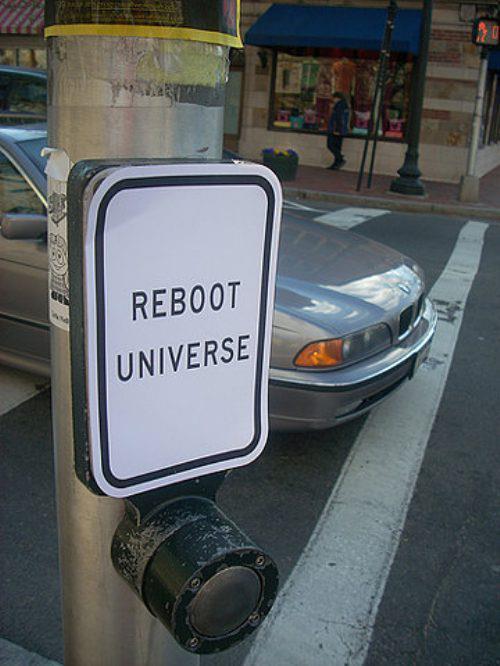 restart the universe